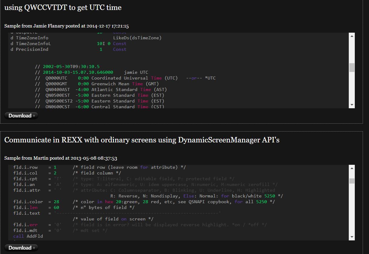 IBM i Programming Examples - Code400